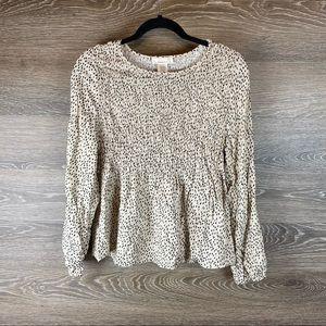 Urban Romantics Long Sleeved blouse nwot